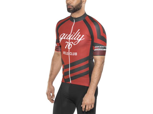 guilty 76 racing Velo Club Pro Race Jersey Heren, red